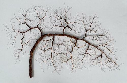 Copper wire tree art ebay for How to make a wire tree of life sculpture