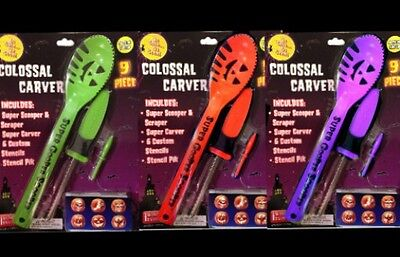 Pumpkin Carving Kit Halloween Jack O Lantern Stencils Patterns Knife Scooper NEW - Halloween Pumpkin Carvings Stencils