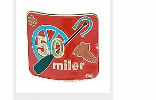 BOY SCOUTS OF AMERICA OFFICIAL 50 MILER AWARD HIKING STAFF STICK MEDALLION NEW