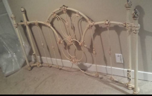 Obo heavy intricate wrought iron head and footboard