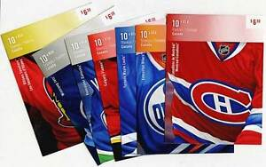 Set of Canada Hockey Stamp Booklets