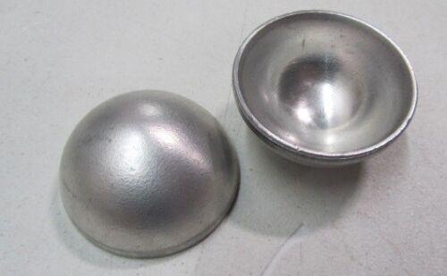 "Aluminum Half Sphere / Balls 2.00"" Diameter x 1.00"" Height, 8 pieces"