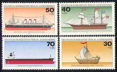 Germany (B) 1977 Ships/Boats/Transport 4v set (n28274)