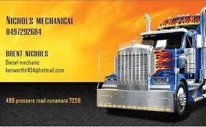 Mobile Diesel mechanic Nunamara Launceston Area Preview