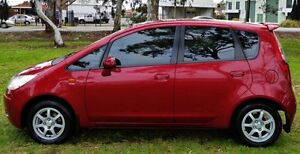 2009 Mitsubishi Colt Burgundy Manual Hatchback Hendon Charles Sturt Area Preview