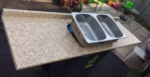 7ft 1in countertop and sink -- great for camp!
