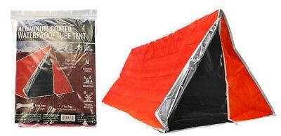 Emergency Outdoor Tube Tent Aluminum Coated Interior  Fire Retardant Material