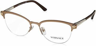 Versace VE1235 Women's Eyeglass 1375 53mm Matte Copper NEW IN BOX