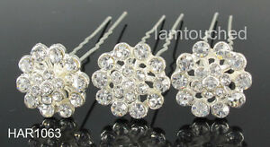 6-10-20pcs-Clear-Crystal-Wedding-Party-Bridal-Prom-Races-Flower-Hair-Pins-Clips