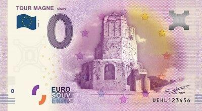 Billet Touristique 0 Euro - Nîmes, la tour Magne - 2016-1