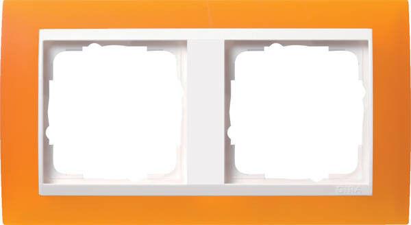 Gira Rahmen Abdeckrahmen 2-fach opak bernstein 0212332