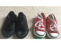 Red converse & black Myleene Klass shoes toddler size 4