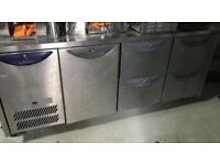 Williams counter fridge with drawers and cupboard compartment