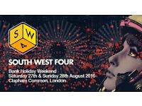 SW4 TICKETS FOR SALE FOR THIS BANK HOLIDAY WEEKEND 28TH AUGUST 2016