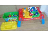 Mega bloks table and accessories