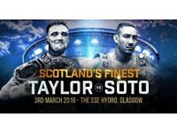 Tickets-Boxing at SSE Hydro Glasgow TAYLOR vs SOTO