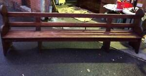 Antique Timber Church Pew Bench Seat Chair Vintage 3200mm Tempe Marrickville Area Preview