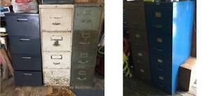 Old metal file cabinets $20 each