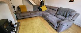 Dfs corner sofa electric recliner