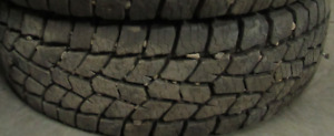 2 Tires sized LT225.75.16 at 99% Tread left on them