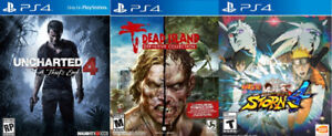 Playstation 4 games on profile for sale