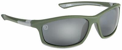 Fox Green Silver Frame / Grey Lens Polaroid Sunglasses CSN044 Carp fishing