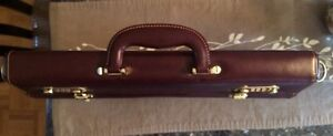 Leather briefcase (brown) -New! West Island Greater Montréal image 3