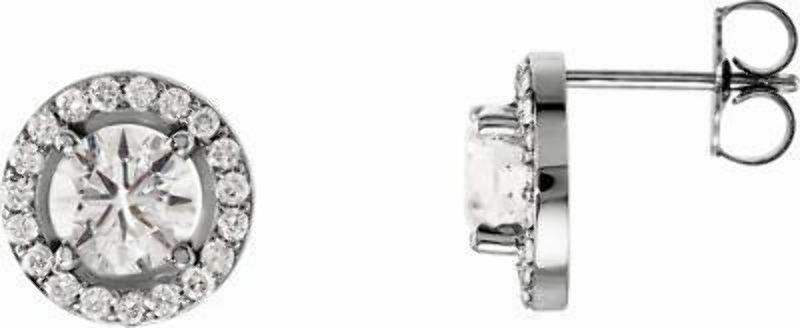 14k White Gold Men Round Diamond Simulant CZ SINGLE STUD Earring 3-Prong 1//8-1ct,Excellent Quality