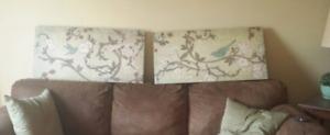 Set of 2 Large Canvas Prints