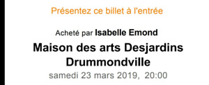 Billets spectacle Christophe Maé Drummondville
