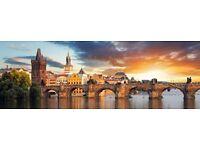 1 return ticket, London- Prague, 20 Dec- 4 Jan