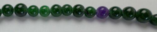 "2 -15"" Strand 100 Deep Green Calcite Gemstone 8mm Round Loose Beads New"