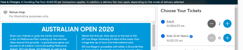 Double Ground Passes Rrp 128 To Australian Open Ao 2020
