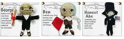 Kamibashi George Abe Ben Original String Doll Gang Keychain Toy Set