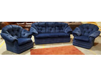 3 Seater sofa and 2 chairs. Can deliver