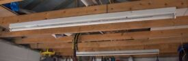 Two 6Ft T8 Fluorescent Light Fittings with Tubes