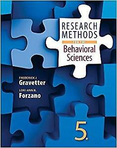 Research Methods For The Behavioural Sciences, Fifth Edition