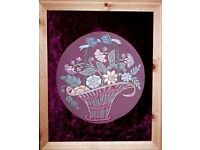 EMBROIDERY ARTWORK PICTURE FRAMED FROM
