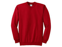 MEN'S BRAND NEW AWDIS BRIGHT RED SWEATSHIRTS (9 in total)