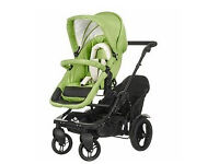 Double pushchair/tandem. £180. Multi-position.Convert, Pramette to forward or parent facing.