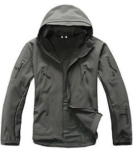 Waterproof/wind resistant tactical jacket - XL / Gray