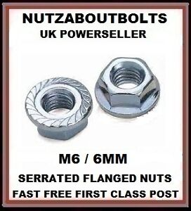 6mm flange flanged a2 stainless steel metric nuts 20 pk