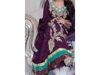 asian pakistani purple dress