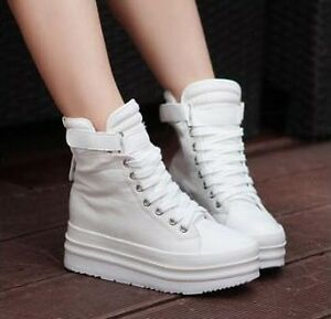 TOP-Fashion-Super-Comfort-High-Ankle-FLAT-Sneaker-Platform-COOL-Shoe
