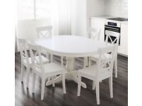 Extendable Kitchen Table and Chairs