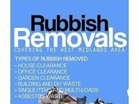 Rubbish clearance Birmingham/West Midlands/Warwickshire skiphire alternative