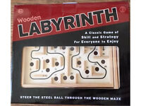 Labyrinth Wooden Game. New in box. RRP £15.99