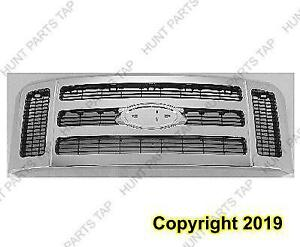 Grille Matt-Dk Gray With Chrome Frame Xlt/Lariautomatic Transmission Model  Ford F250 F350 F450 F550 2008-2010