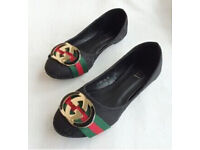 Womens Gucci Shoes! Trending gucci brand now!/Flats awsome comfort all day! 3 Colours to pick from