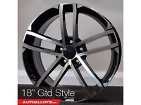 "18"" GTD Style Alloy wheels &Tyres LEON, A3 MK2 MK3 VW Passat, Jetta, Golf MK5, MK6, MK7, Caddy"